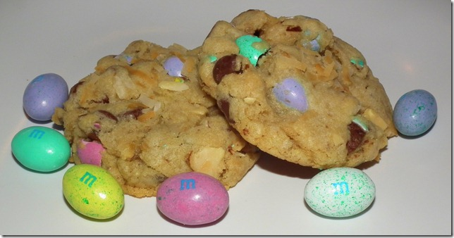 Coconut M&M Almond Chocolate Chip Cookies 2-28-12