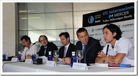 Presentado hoy oficialmente el VII Internacional Bwin PPT en la Ciudad de la Raqueta.