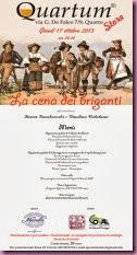 17 ottobre Cena Briganti al Quartum store