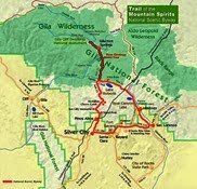 Trail of the Mountain Spirits Scenic Byway Map