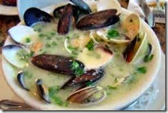 6.Garlic mussels with White Wine