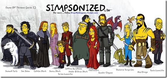 Personajes de Juego de Tronos version Simpsons