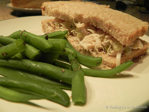 Chicken Salad Sandwich &amp; Green Beans