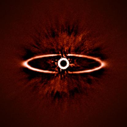 disco de poeira em torno da estrela HR 4796A