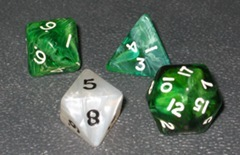 Oddly shaped dice