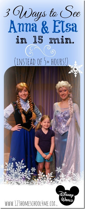 Disney! 3 Ways to See Anna & Elsa at Disney World in 15 minutes instead of over 5 hours! #disney #magickingdom #frozen