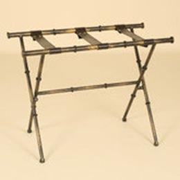 faux bamboo metal luggage rack