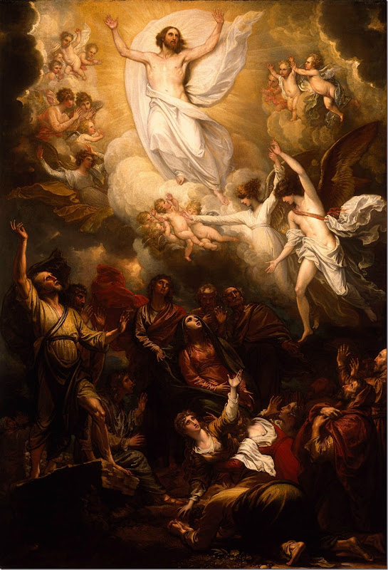 The Ascension, Luke 24.50-53 ESV. The Ascension by Benjamin West, 1801