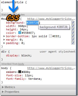 Chrome Css stylesheet