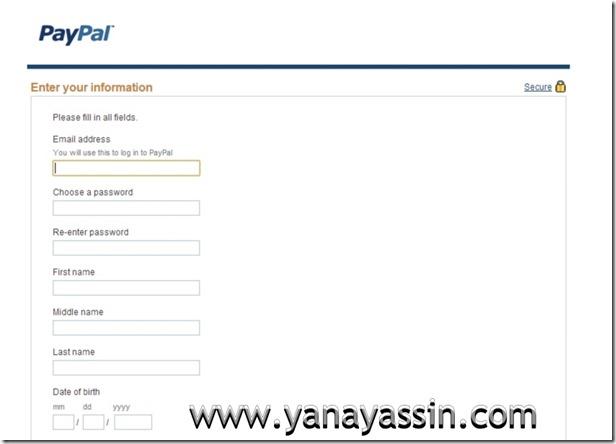 Cara daftar Paypal  102