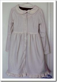 White Fleece Dress Coat