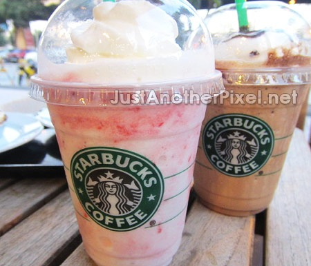 Our Starbucks Strawberry and Creme and Mocha Frappuccino - JustAnotherPixel.net