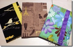 Fabric covered diaries