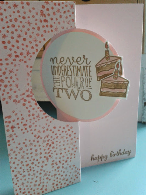 yippee skippee, stampin up birthday card