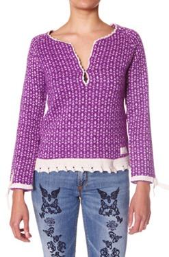 #421 Jaquard Jumper lilac