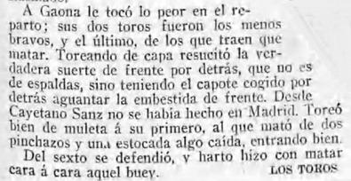 1910-03-28 (p. 04-01) Los toros y el teatro