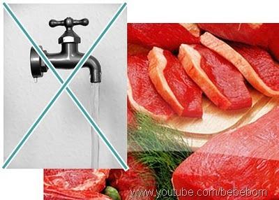 lavar carne