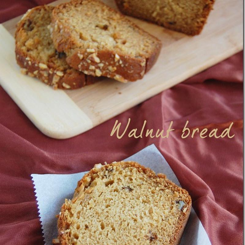 Eggless walnut loaf bread