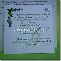 Carton d'invitation lierre et fée crée sur mesure par Fée Repart