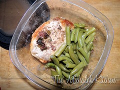 Hubbys Takeout Pom Ginger Chops w Green Beans