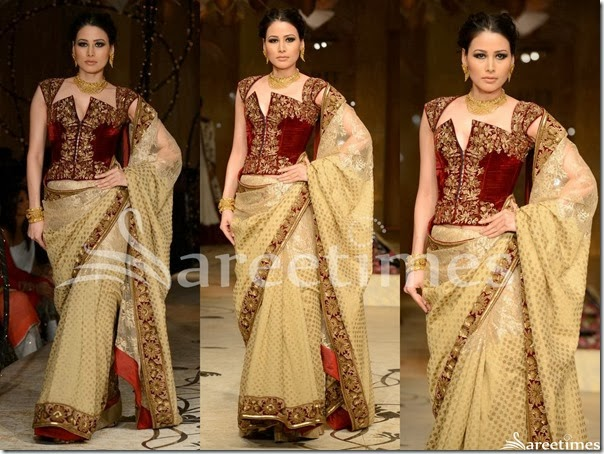 Rohit_Bal_Cream_Saree