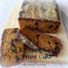 Sticky Stem Ginger & Prune Cake