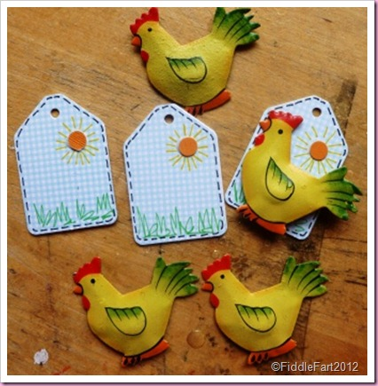 Mini Easter Chick Tags
