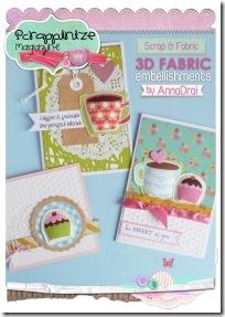4-scrapbooking - tutorial - abbellimenti stoffa card
