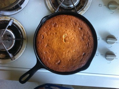 cake in pan