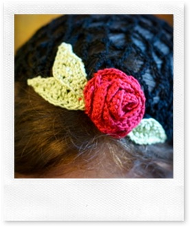 black snood - rose