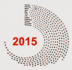 спираль календарь 2015