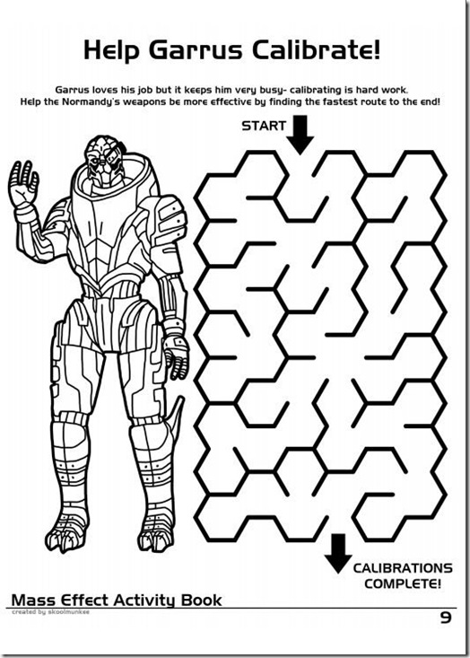 mass effect 3 coloring pages - photo#14