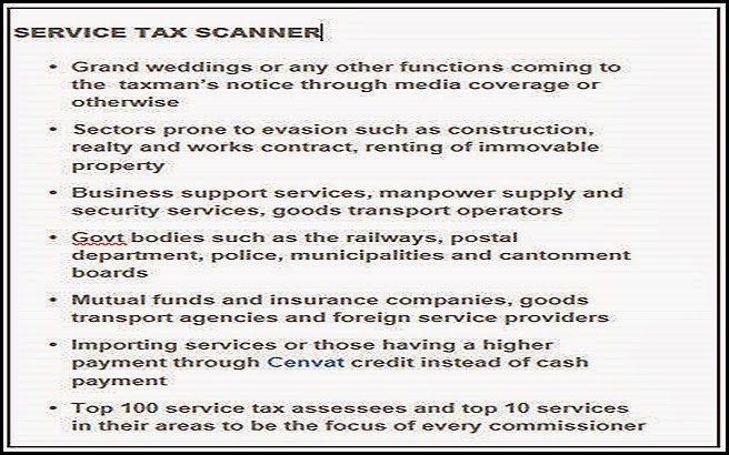 Service Tax Scanner
