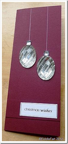 Jewelled Bauble Card