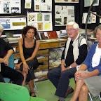 Elisabeth, Joëlle, Jacques et Isabelle (notre présidente) font une pause