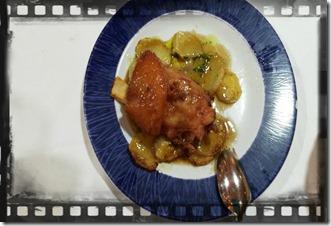 Fotografia della ricetta del codillo iberico con su gugo bodegòn azoque zaragoza