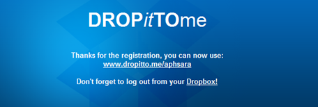 dropittome อัพโหลดไฟล์ไปยัง dropbox