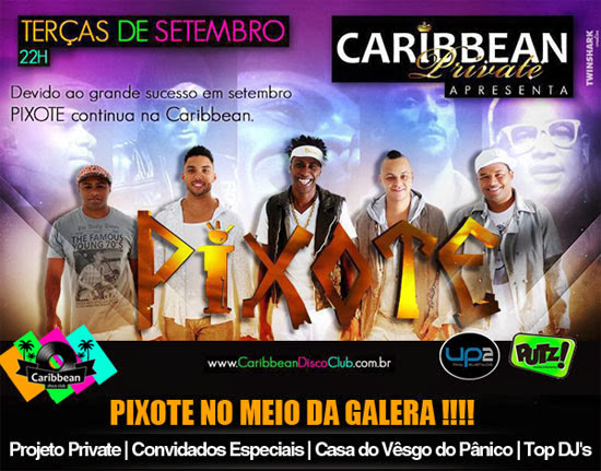 Grupo Pixote na Caribbean Disco Club