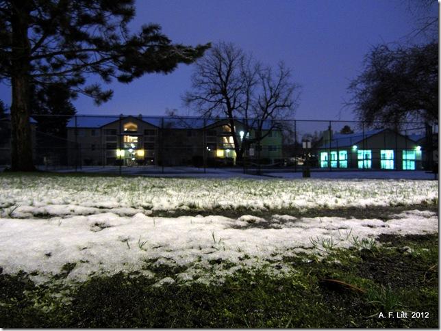 Obligatory snow photo.  Gresham, Oregon.  March 1, 2012.  6:11 AM