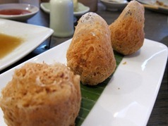 Chicken and prawn taro croquette