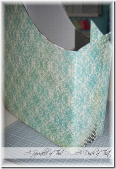 Magazine Holder Step 4 {A Sprinkle of This . . . . A Dash of That}