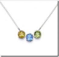 Sterling Silver Birthstone slider necklace jpg