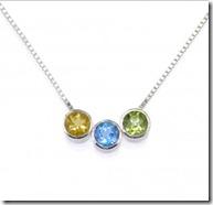 Sterling Silver Birthstone slider necklace jpg