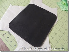 fabric covered mouse pad - The Backyard Farmwife