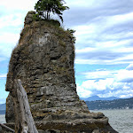 Siwash Rock in English Bay near Stanley Park in Vancouver, BC Canada-Suzanne Hight.jpg