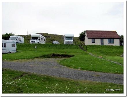 Staffin Caravan Park, Isle of Skye.