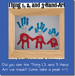 Thing 1, 2, and 3 Hand Art