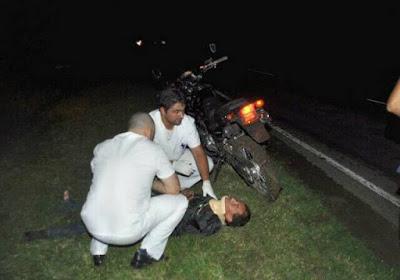 ruta 7 motociclista cae de la moto