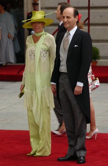 Simoneta Gómez-Acebo llegó junto a su marido, José Miguel Fernández