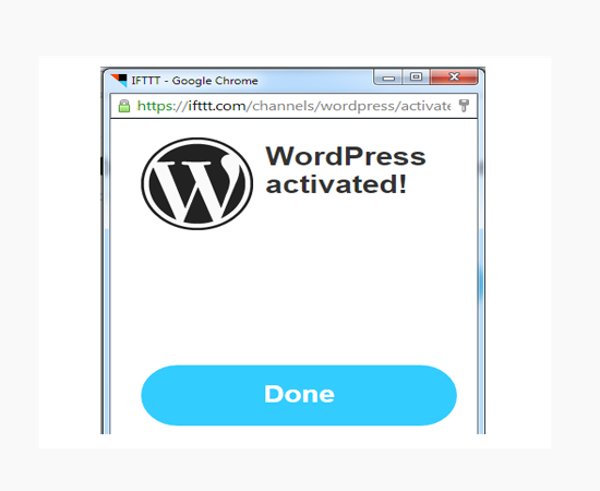 wordpress-activated-ifttt